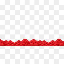 红色中国风祥云底纹装饰