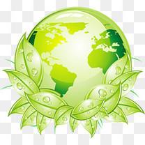 绿叶地球环保图案
