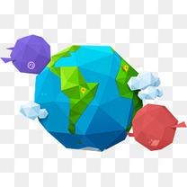 创意地球图案