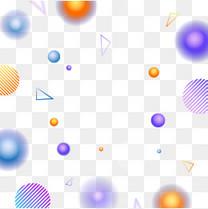 卡通彩色漂浮彩球矢量图