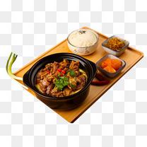 煲仔红烧牛肉饭快餐