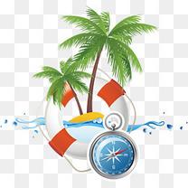 夏季旅游元素