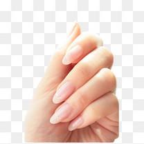 透明的美甲手指免抠图