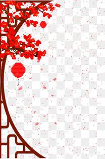 新年传统边框背景psd分层图