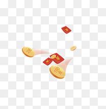 乱飞的金币与红包
