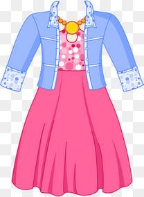 矢量图可爱女童套装