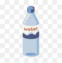 紫色扁平化水瓶元素