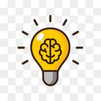 AI黄色大脑想象手绘灯泡下载矢量手绘灯泡高清下载