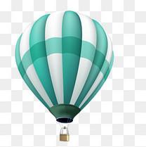 矢量装饰扁平化热气球png