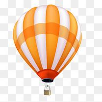 矢量卡通装饰扁平化热气球png