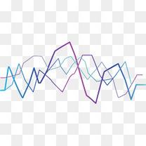 彩色折线绚丽梦幻声波矢量素材