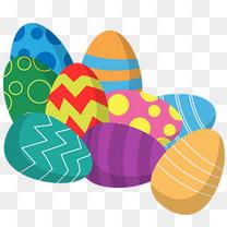 复活节多彩各式彩蛋