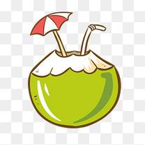 海边度假椰子饮品