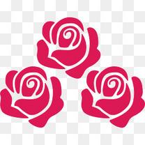 手绘玫瑰花元素