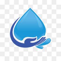 蓝色保护水资源图案