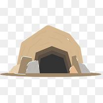 洞穴矢量卡通冰川时代