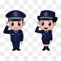中小学安全教育日卡通警察矢量