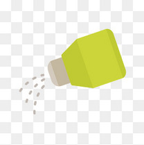 调料瓶和洒出的调料