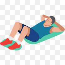 立体健身房锻炼男孩