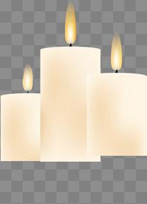 扁平化简约白色蜡烛