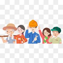 五一劳动节手绘人物插画劳动人民