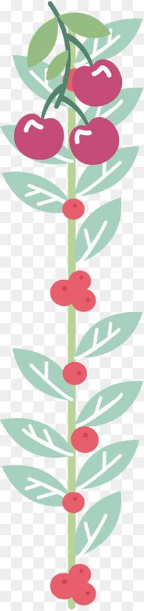 矢量手绘时尚花卉植物英文字母l