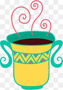 卡通老式茶杯插画装饰