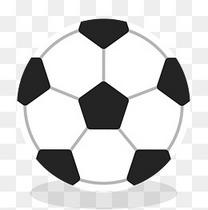 黑白相间足球花纹矢量素材