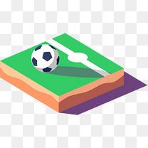 世界杯足球绿色小岛
