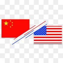 中美VS美国旗帜元素