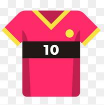 足球运动红色10号球衣图标矢量素材