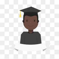 非洲男孩毕业矢量图