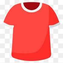 足球运动红色球衣矢量素材