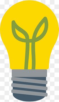 黄色扁平植物灯泡