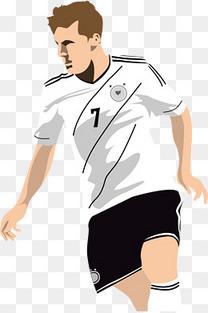 白衣立体足球运动员