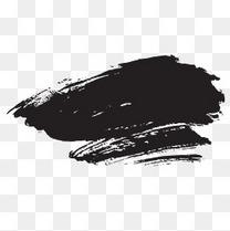 黑色毛笔笔触书法元素