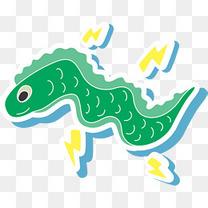 绿色卡通海鳗电鳗
