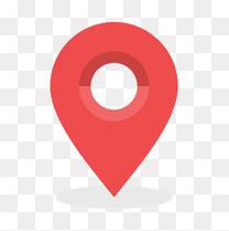 红色圆弧地图定位元素