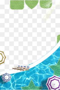 游泳训练班培训招生手绘边框