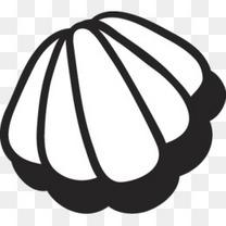 一只贝壳简笔画图案