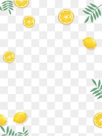 清新柠檬装饰图案免抠