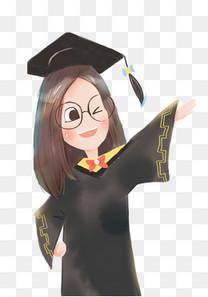 毕业季青春不散场手绘插画