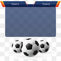 矢量手绘足球比赛积分