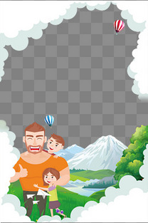父亲节父爱如山背景主题边框