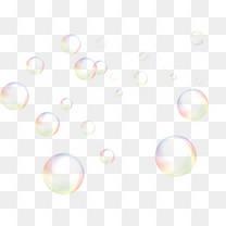 水彩彩色卡通泡泡
