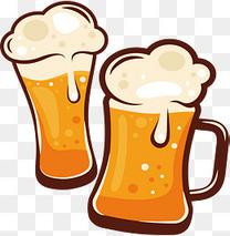 卡通啤酒矢量图下载