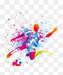 2018世界杯足球比赛海报设计插画