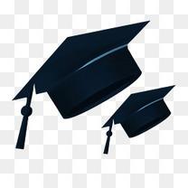 青春毕业季宣传海报博士帽