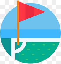 卡通时尚旗帜插画设计