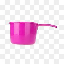 紫色反光带手柄的水勺塑胶制品实物